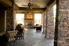 Walk-out Basement Area Stone Masonry, Stone Veneer, Brick And Stone, Faux Stone, Cast Stone Fireplace, Stone Fireplaces, Canyon Stone, Outdoor Living, Outdoor Decor