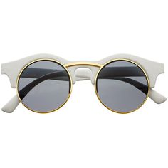 Round Unisex Retro Steampunk Fashion Sunglasses R3250 (685 DOP) ❤ liked on Polyvore featuring accessories, eyewear, sunglasses, glasses, & - clothing - glasses, fillers, retro sunglasses, unisex glasses, round frame glasses and retro style sunglasses