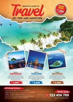 Buy Tour and Travel Flyer by tholai on GraphicRiver. Tour and Travel Flyer Template File Features: 2 variation design All Text Editable Photoshop PSD File Size