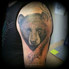 Black bear tattoo In process haylo