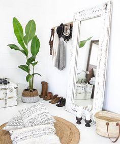 Bohemian style home inspo + bright white decor + modern look