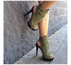 Womens High Heel Sandals Boots Strap Belt Buckle Ladies Shoes Upper Material: Artificial PU Sole M. Hot Shoes, Crazy Shoes, Zapatos Shoes, Shoes Heels, Look Fashion, Fashion Shoes, Street Fashion, Bootie Boots, Shoe Boots