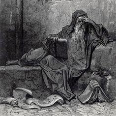 Doré, Paul Gustave (b,1832)- Enchanter Merlin- F- 'Orlando Furioso', 1888 -2b