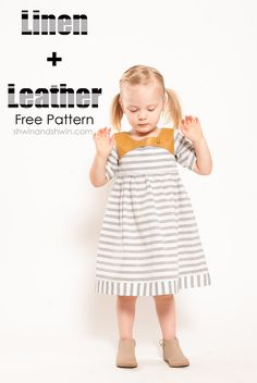 A free pattern for a basic bodice and sleeve with a tutorial for a Leather and Linen mashup and invisible zipper.