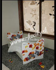 Detská posteľ Kocúrik 180x90 cm s matracom