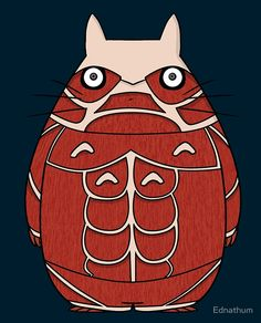 totoro my neighbor neighbor hayao miyazaki studio ghibli japan manga anime attack on titan on titan titans hajime isayama eren yeager armin arlert mikasa ackerman survey corps horror muscle muscles human giant cross over crossover