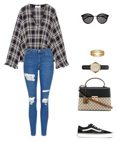 """""""Untitled #1155"""" by totheedgeofavidity ❤ liked on Polyvore featuring Beaufille, Topshop, Vans, Gucci, Yves Saint Laurent and Burberry"""