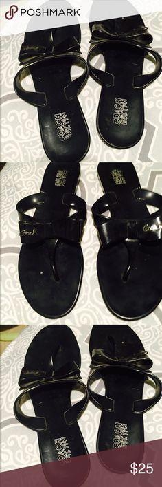 Coach flip flops Used but Clean coach Rubber flip flops Coach Shoes Slippers
