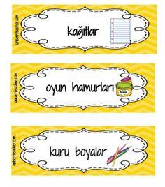 Turkish Language, Pre School, Diy And Crafts, Nursery, Classroom, Printables, Kids, Class Room, Children