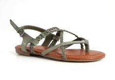 Mia Shoes Dannie Braided Sandals in Khaki GG1647-KHAKI