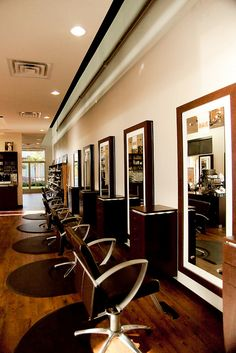 Tangerine Salon | You can get this same vibe with the Charlotte Hair Salon Chair http://stand.sh/charlottebrn and the Chelsea Petite Tower http://stand.sh/chelseapetitechoc