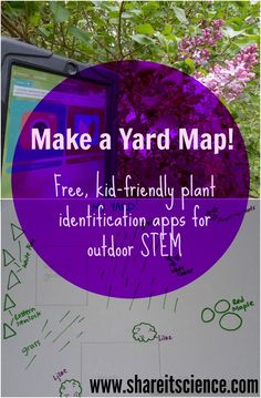 Share it! Science News : Plant Identification Apps: Yard Mapping for Kids Share it! Science News : Plant Identification Apps: Yard Mapping for Kids Map Activities, Nature Activities, Outdoor Activities For Kids, Steam Activities, Outdoor Learning, Kids Learning Activities, Spring Activities, Teaching Ideas, Stem Science