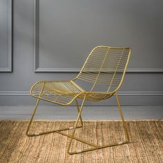 Maurizio Linear Lounger In Gold | Armchairs | Graham