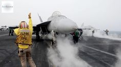 Aircraft Carrier USS Carl Vinson Launches Aircraft Against ISIS