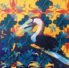 Hornbill in Ubud 2915 Jcdc.com.au Ubud, Christianity, Studio, Painting, Art, Craft Art, Study, Painting Art, Kunst