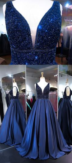 Beading Ball Gown Prom Dress,Long Prom Dresses,Prom Dresses,Evening Dress, Evening Dresses,Prom Gowns, Formal Women Dress,prom dress P0520 #shoppingonline #promdresses #longpromdresses #navybluepromdresses #2018promdresses #2018newstyles #fashions #styles #hiprom