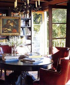 Tim Clarke's library, Elle Decor