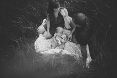family photo in black and white by Andrea Brooke Photography