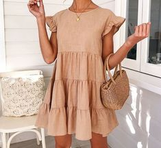 Dresses clothes in 2019 vestidos, vestidos cortos, vestidos Mode Outfits, Trendy Outfits, Spring Summer Fashion, Spring Outfits, Summer Dress Outfits, Mode Shoes, Look Retro, Elegantes Outfit, Online Fashion Boutique