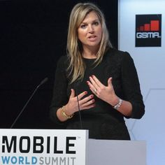 02-03-2015 Queen Maxima at the Mobile World Summit in Barcelona.  #queenmaxima #queen #netherlands #dutch #koninginmaxima #koningin #nederland #mobileworldsummit #MWC15 #barcelona #spain #spanje #maxima