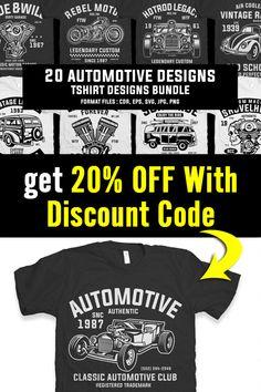 T Shirt Design Template, File Format, Automotive Design, Design Bundles, Funny Tshirts, Screen Printing, Shirt Designs, Coding, Marketing