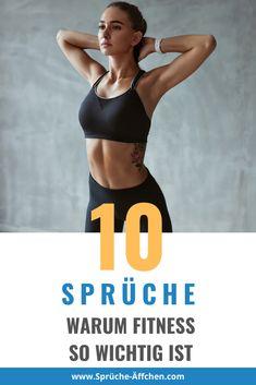 10 Sprüche warum Fitness so wichtig ist Fitness Motivation, Fitness Video, Workout, Bra, Food, Vegan Cake, Fitness Sayings, Weight Loss Secrets, Pretty Hair