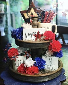 Fourth Of July Drinks, Fourth Of July Decor, 4th Of July Decorations, 4th Of July Party, 4th Of July Wreath, July 4th, Memorial Day, Labor Day Crafts, Serving Tray Decor