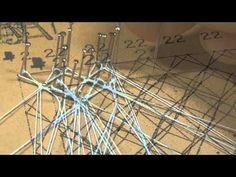 TOMBOLO PUNTO ASTRID - YouTube Irish Crochet, Crochet Lace, Bobbin Lacemaking, Bobbin Lace Patterns, Tatting Lace, Needle Lace, Lace Embroidery, Lace Making, Wool Yarn