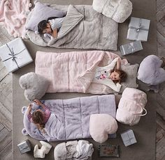 an ultra-soft, faux fur sleeping bag for indoor campouts. #rhbabyandchild