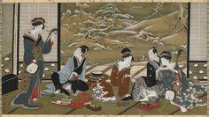 A Winter Party Artist: Utagawa Toyoharu18th-19th century