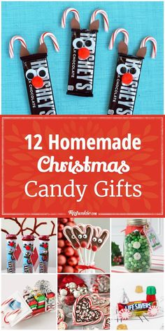 12 Homemade Christmas Candy Gifts [Easy] via @tipjunkie