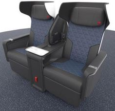 Delta new first class seat: Photos of Airbus premium cabin - Business Insider Plane Seats, Car Seats, Big Tray, Air Travel, Travel Tips, First Class Seats, Business Class, Storage Spaces, Memory Foam