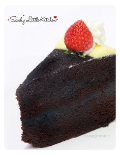 Sashy Little Kitchen: Home Cooking and Food Traveller: Brownies Kukus Ny. Resep Sponge Cake, Resep Cake, Brownies Kukus, Fudge Brownies, Brownie Recipes, Cake Recipes, Chocolate Butter Cake, Roti Recipe, Indonesian Food