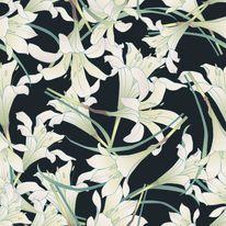 Flora / White Lily Pattern http://umievskaya.com/portfolio/the-lady-of-the-lake/