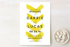 Painted Chevrons Wedding Invitations by Hooray Creative at minted.com