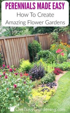 Does your perennial garden look amazing for a few weeks every summer, but it's dull and boring the rest of the year because nothing else ever flowers? Learn how to spruce them up, and create colorful, ever-blooming perennial flower gardens, for perennials made easy!