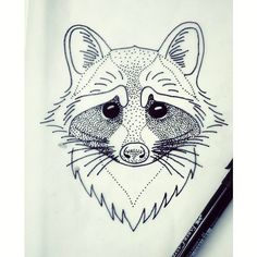 #raccoon #raccoontattoo #tattoo #tattoosketch #blacktattooart #blackworkers…