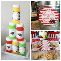 Carnival Birthday Party Package Circus by HauteChocolateFavors