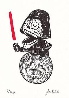 Calavera Vader Gocco Print | Jose Pulido via Flickr.