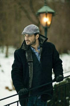 winter coat & cap