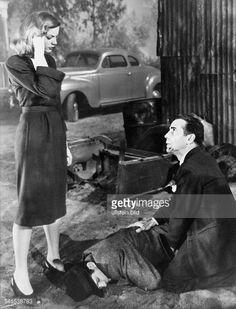 ... Lauren Bacall and Humphrey Bogart at the film 'The Big Sleep' ...