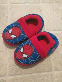 9d4389372c3b Marvel Spider-Man Fleece House Shoes Slippers Boys Kids Toddler Size S 11 12