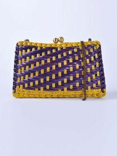 SERPUI MARIE - Pochette viola e gialla | Di Pierro http://www.dipierrobrandstore.it/product/2462/Pochette-viola-e-gialla.html