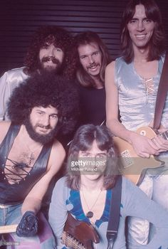 Boston, group portrait, New York, 1977, clockwise from bottom left Sib Hashian, Brad Delp, Fran Sheehan, Tom Scholz, Barry Goudreau.
