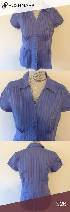 🆕 Ann Taylor Purple Button Blouse 6 Nice collared top. Ann Taylor Tops Button Down Shirts