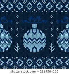 Vector de stock (libre de regalías) sobre Christmas Knitted Pattern Winter Geometric Seamless1215584185 Christmas Knitting, Knit Patterns, Illustration, Mosaic, Kids Rugs, Stitch, Pillows, Xmas Sweaters, Sweater Scarf