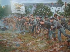 May a small Confederate Army was being overwhelmed by the larger Federal Army of Franz Sigel near Newmarket, Virginia in the Shenendoah Valley. Major General John C. Breckenridge realized he - Visit to grab an amazing super hero shirt now on sale! Confederate States Of America, America Civil War, America America, Military Art, Military History, Battle Of New Market, Civil War Art, Civil War Photos, Historical Art