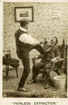 OUCH! Glad we don't do dentistry this way anymore! www.martinandshengdental.com