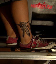 Jagua tattoo - feathers