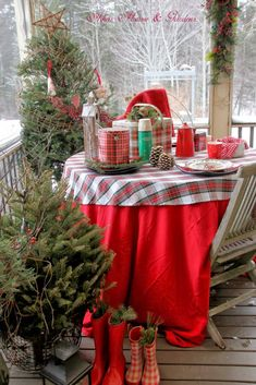 A Plaid Winter Picnic (1) From: Warren Grove Garden, please visit